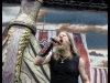 "Amon Amarth performs on June 29, 2013 during the ""Rockstar Energy Drink Mayhem Festival"" at San Manuel Amphitheater in San Bernardino,  California"